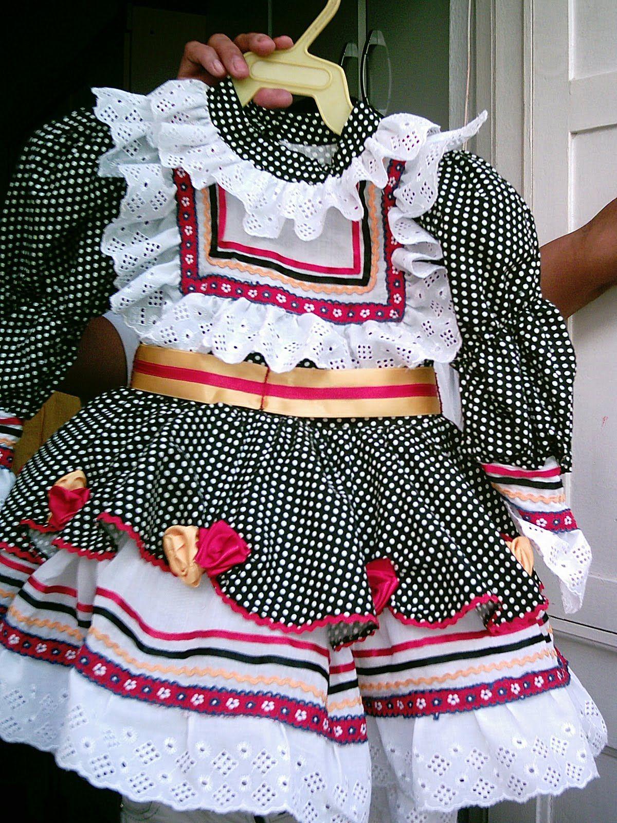 Vestido de festa junina infantil molde