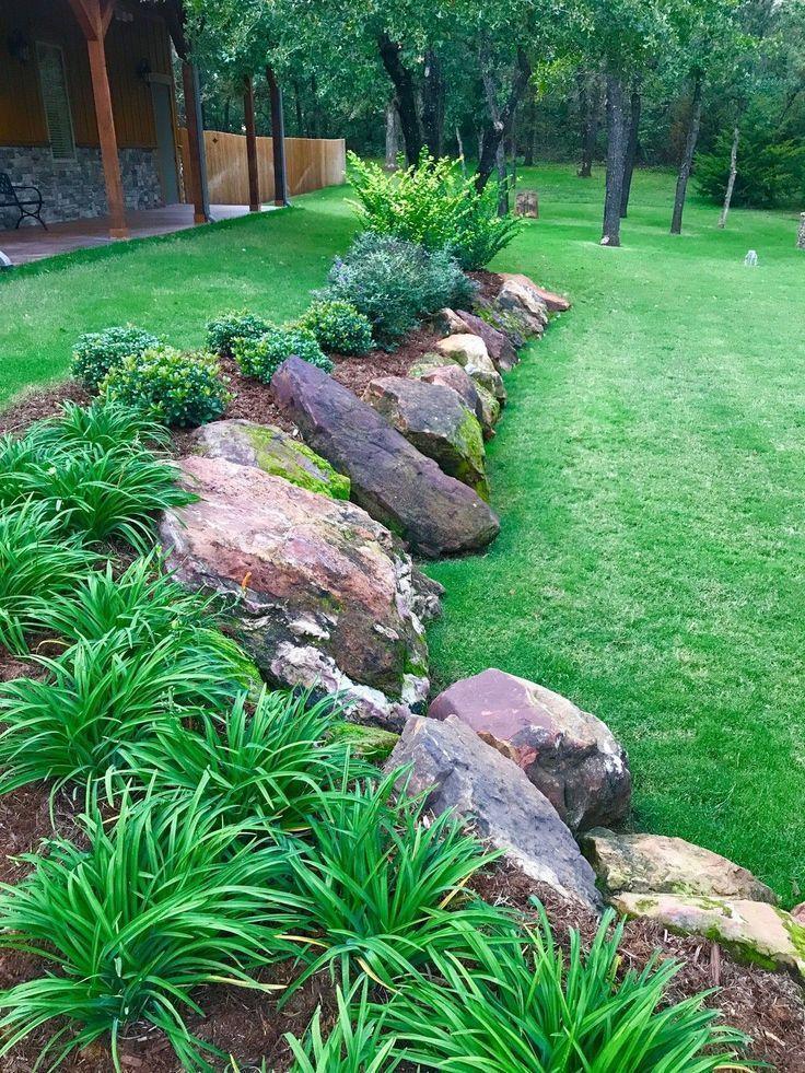Retaining Wall Landscape Ideas In 2020 Rock Garden Landscaping Rock Garden Design Landscape Design