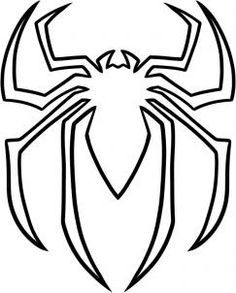 How To Draw The Spiderman Logo Spiderman Symbol Step 5 Spiderman Pumpkin Spiderman Pumpkin Stencil Spiderman Coloring