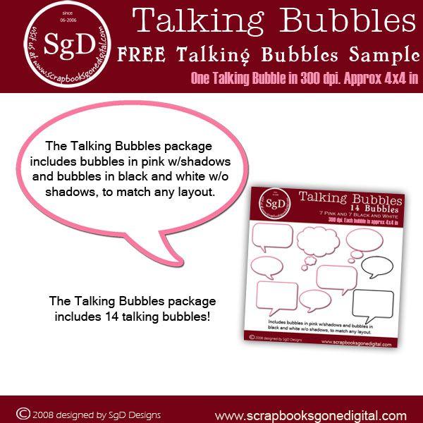 Talking Bubbles - Product Sample Lots of digital freebies