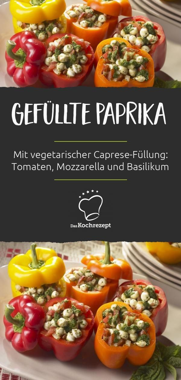 Gefüllte Paprika vegetarisch #vegetarischerezepte