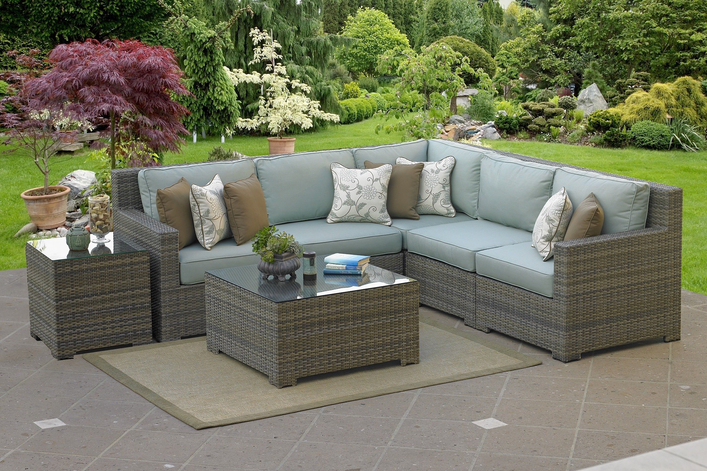 High back sectional sofa l shaped outdoor sectional