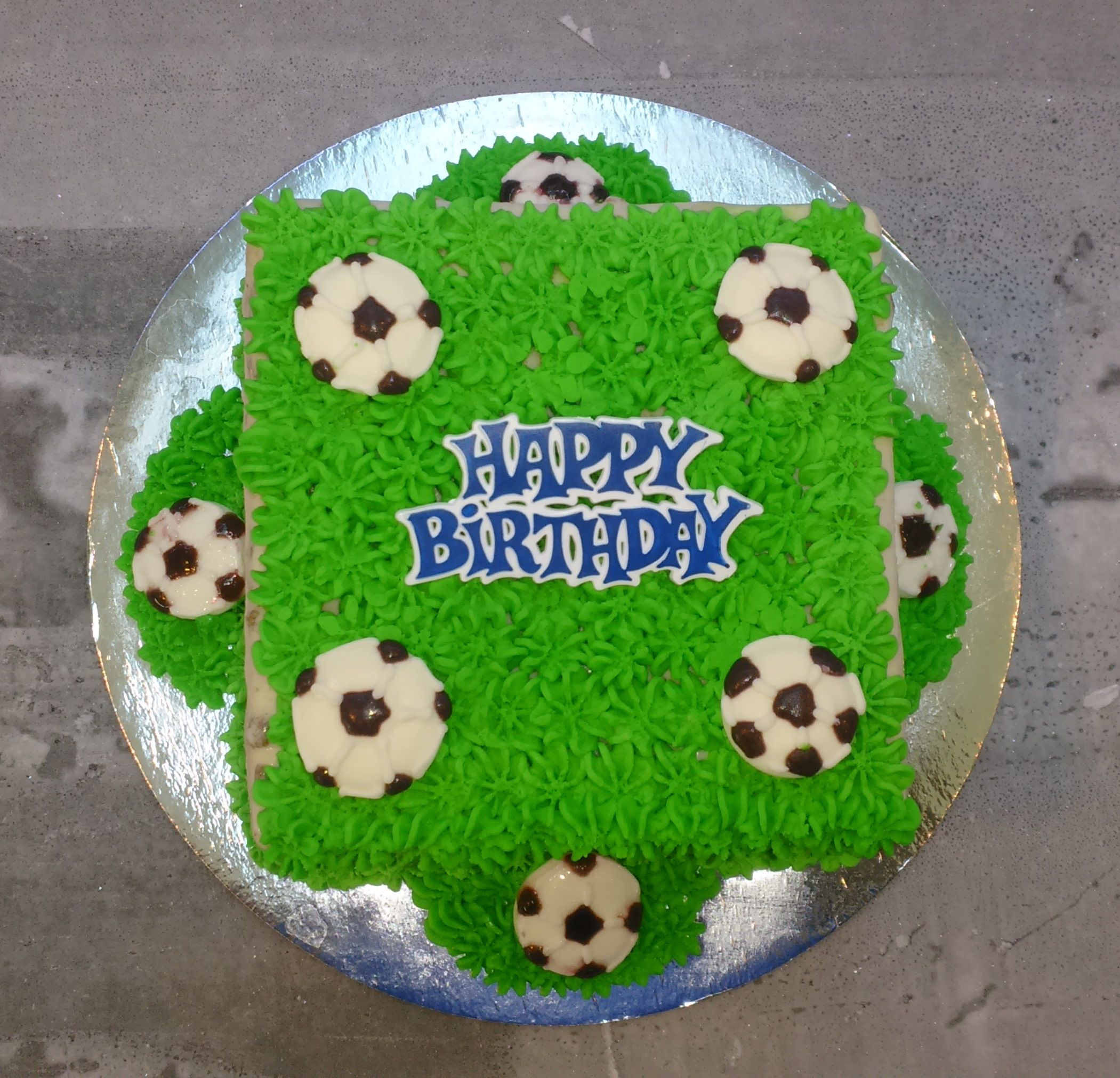 Cold Rock Ice Cream Cake Soccer Green
