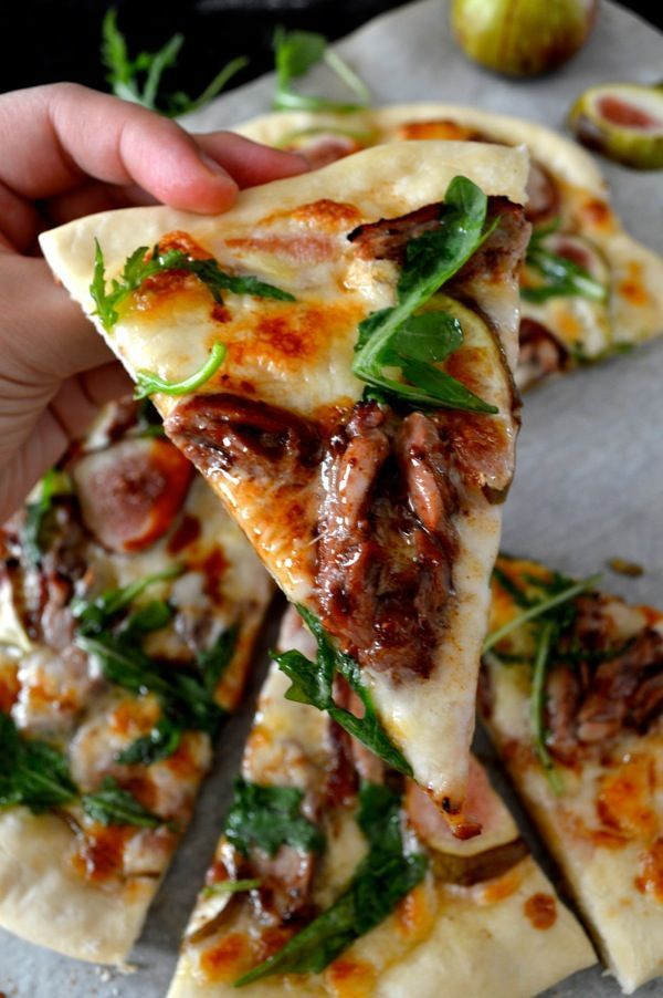 Roast Duck Pizza With Figs And Arugula Recipe Duck Recipes Cooking Recipes Recipes