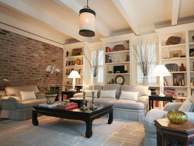 Image Result For Brick Wall Living Room