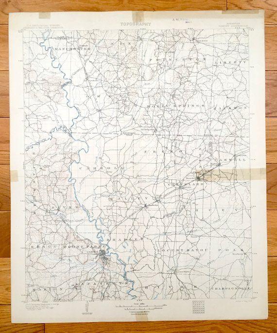 Antique Camden Arkansas 1903 Us Geological Survey Topographic Map