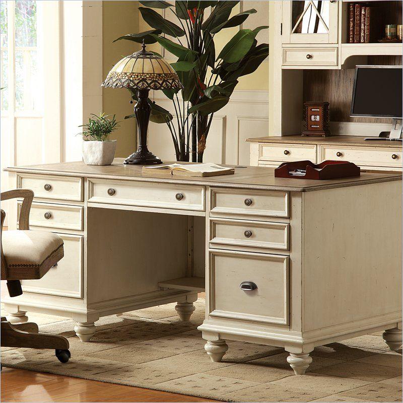 Riverside Coventry Two Tone Executive, Riverside Furniture Desk