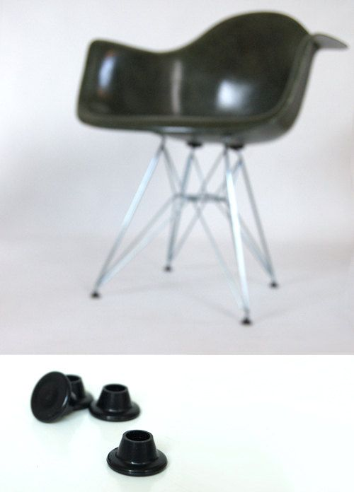 Vintage Spec Black Eiffel Glides Set Of 4 Eames For Herman Etsy Shell Chair Wire Chair Vintage Eames