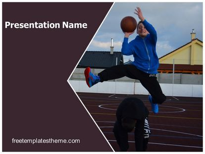 Get This Free Playing Basketball Powerpoint Template With