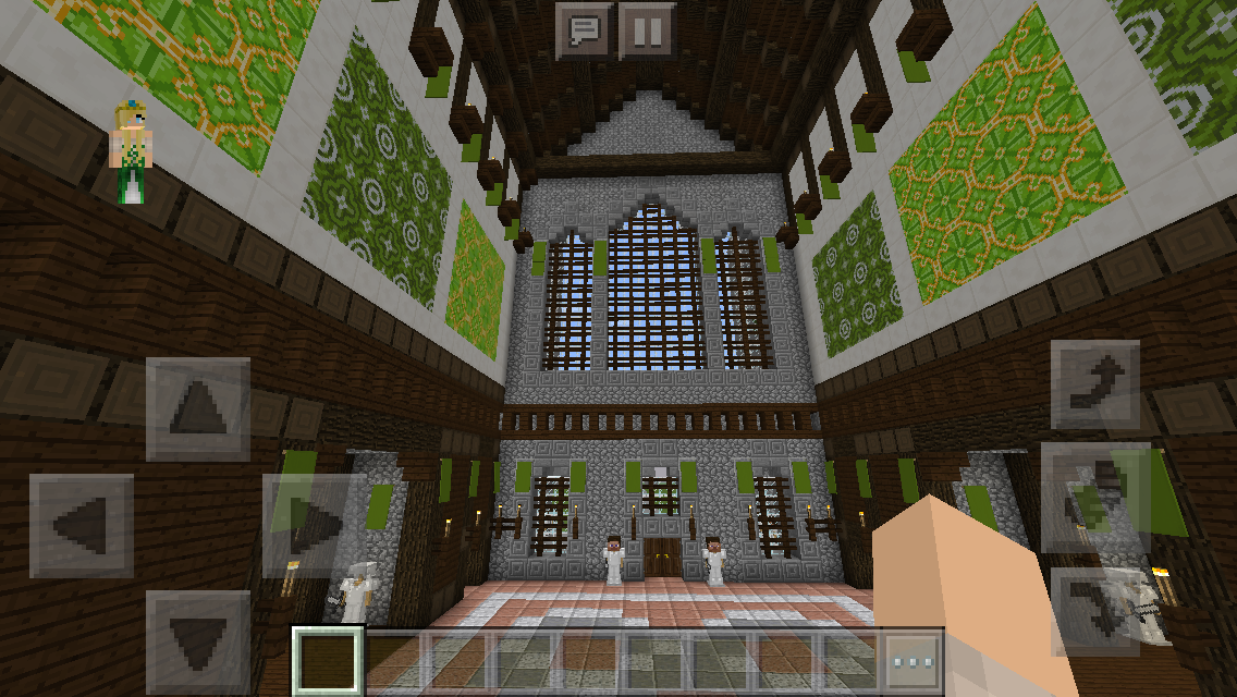 Chaisleán Na Mban Glas (Green Lady Castle) Foyer #minecraft #architecture # Design