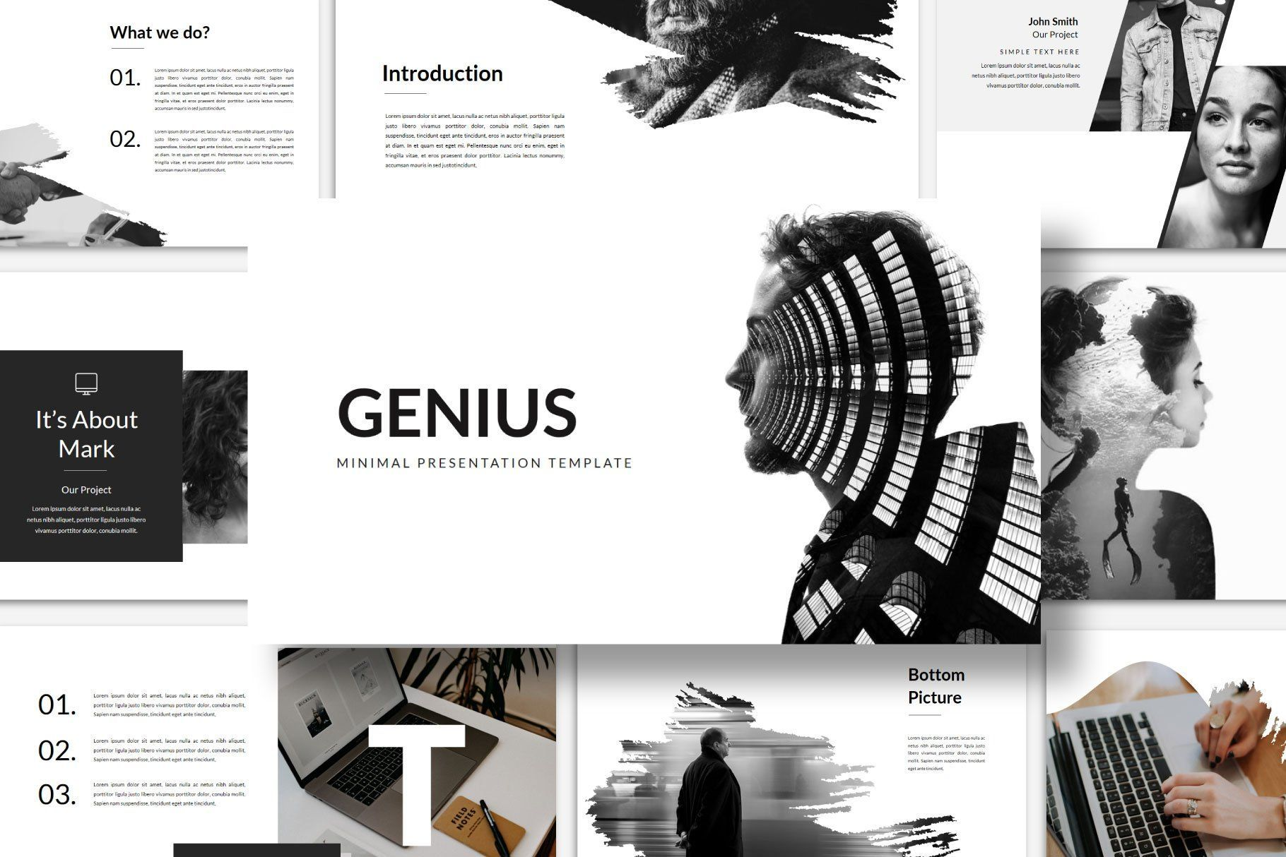 Genius Powerpoint Presentation Template An Elegant Sleek Easy To Use Template Made For Powerpoint Its M Keynote Template Powerpoint Templates Image Theme