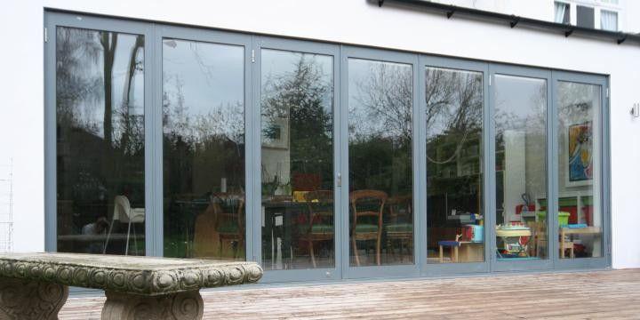 Aluminium Bi Folds Nice Mid Grey Bi Fold Doors Pinterest Bi Fold Doors
