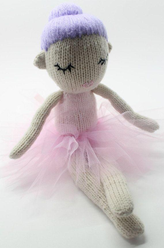 Knitting Pattern Hazel Dancing Ballerina Knitted Dolly