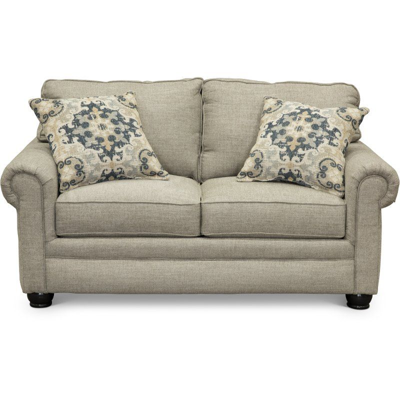 Casual Traditional Taupe Loveseat Heather Rc Willey Furniture Store Living Room Decor Traditional Taupe Loveseat White Decorative Pillows #rc #willey #living #room #furniture