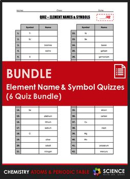 Quiz element names and symbols 6 quiz bundle periodic table quiz element names and symbols 6 quiz bundle periodic table chemistry and chemical bond urtaz Gallery