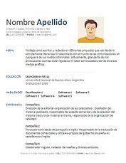 Excelentes Plantillas Y Modelos De Curriculum Vitae En Formato Word