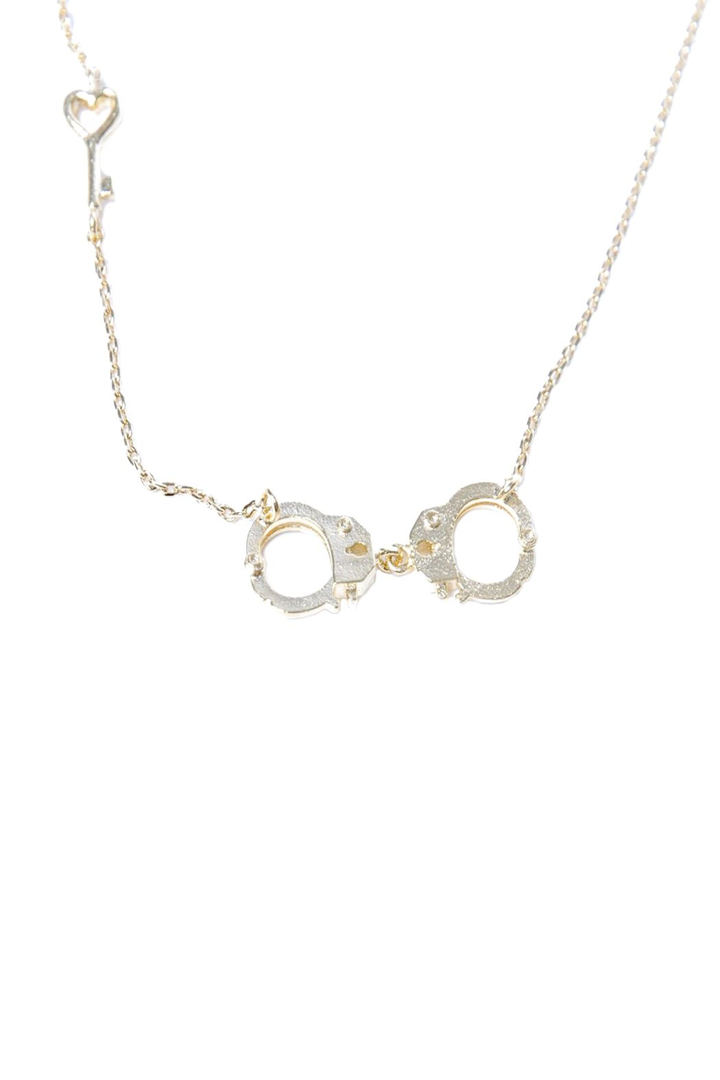 Green handcuff necklace handcuff necklace bling and jewel handcuff necklace aloadofball Image collections