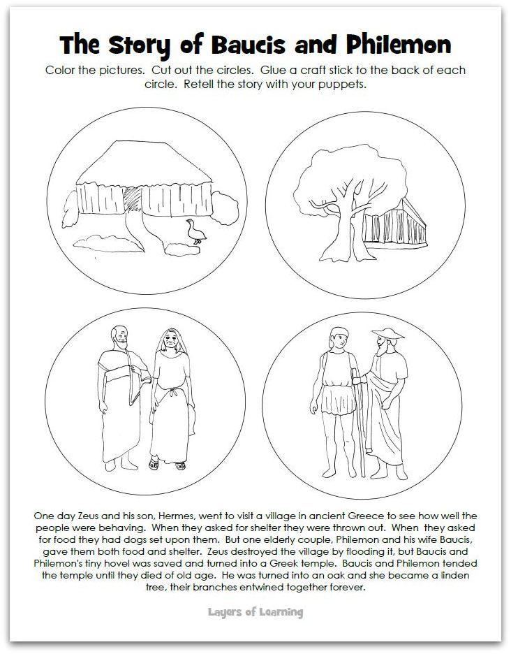 Baucis And Philemon A Greek Myth Philemon Greek Myths Love Story