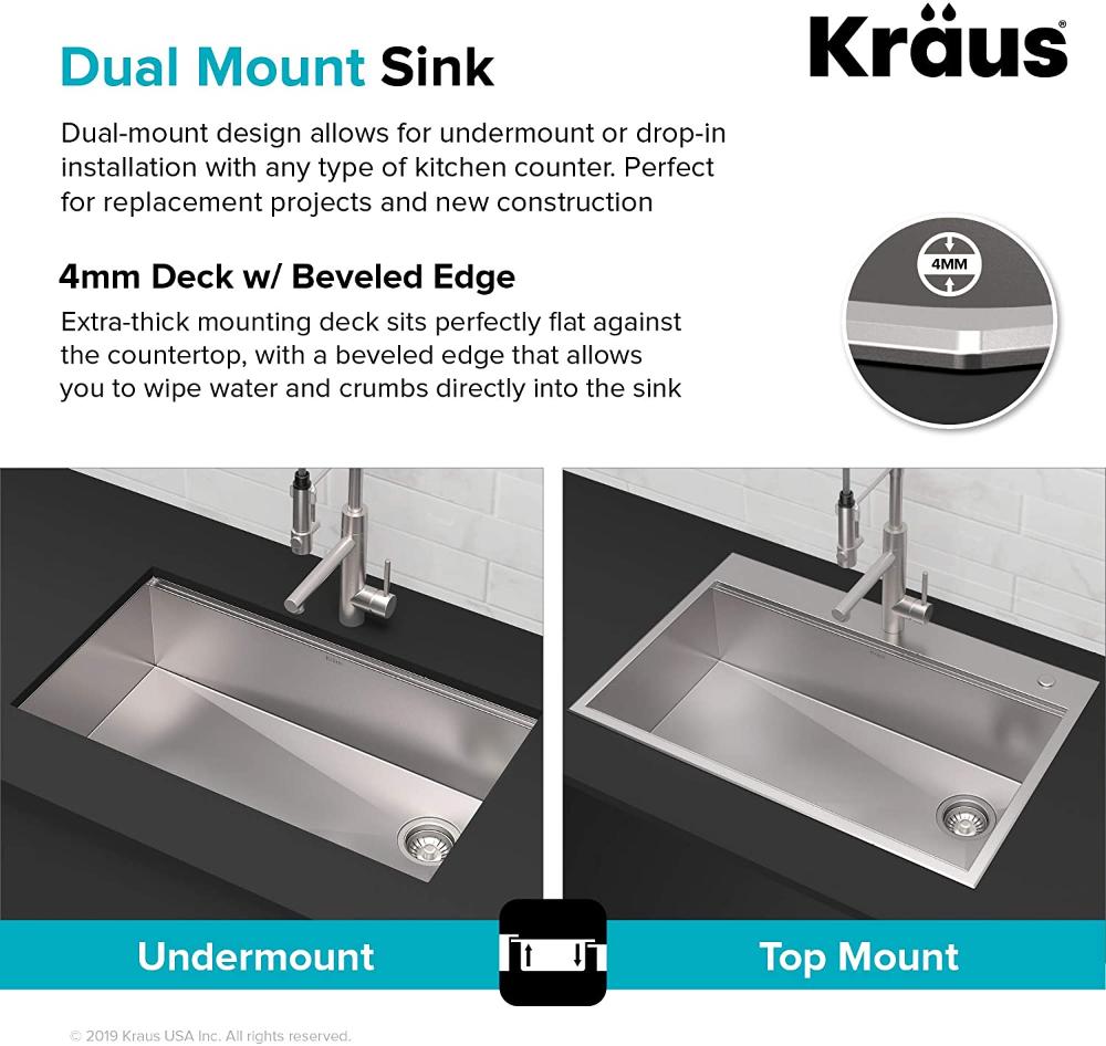 Kraus Kwu112 33 Kore Workstation 33 Inch Undermount 16 Gauge Double Bowl Stainless Steel Kitchen Sink With Integ Sink Kitchen Sink Stainless Steel Kitchen Sink