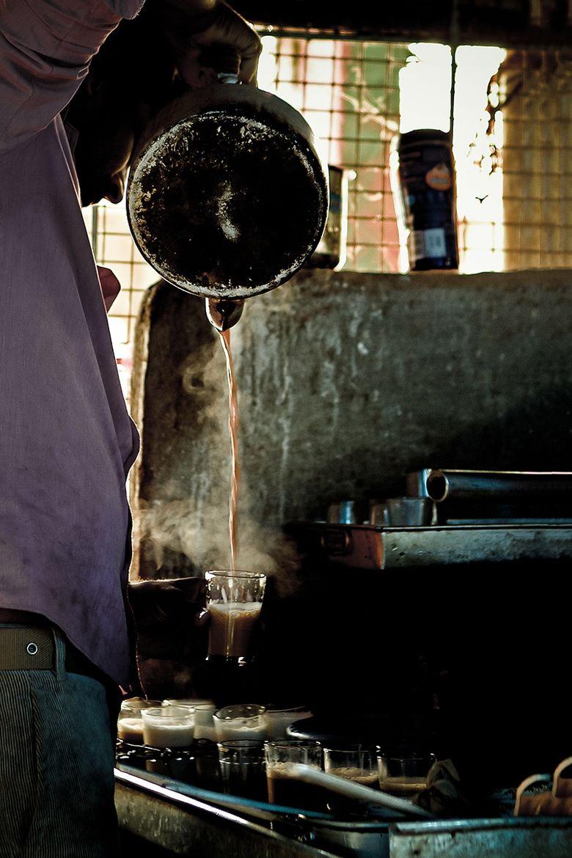 Tea Street Vendor, Bangalore, India