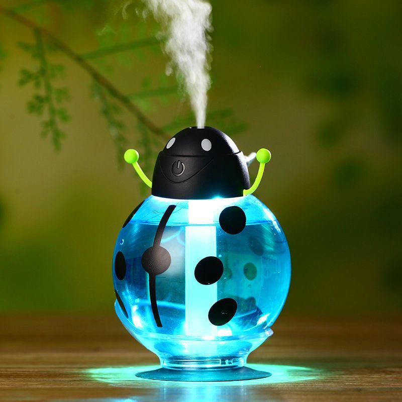 0e178fbec Small ladybug car usb Humidifier incubator diffuser led Mini Air Humidifier  Air Diffuser Portable Water Aroma Mist Maker