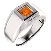 Platinum Man's 5x5 Princess Cut Madeira Citrine and Diamond Ring   List Price: $6,656.50 Your Price: $3,993.90 http://astore.amazon.com/greabbirthstones-20/detail/B00KIREW36