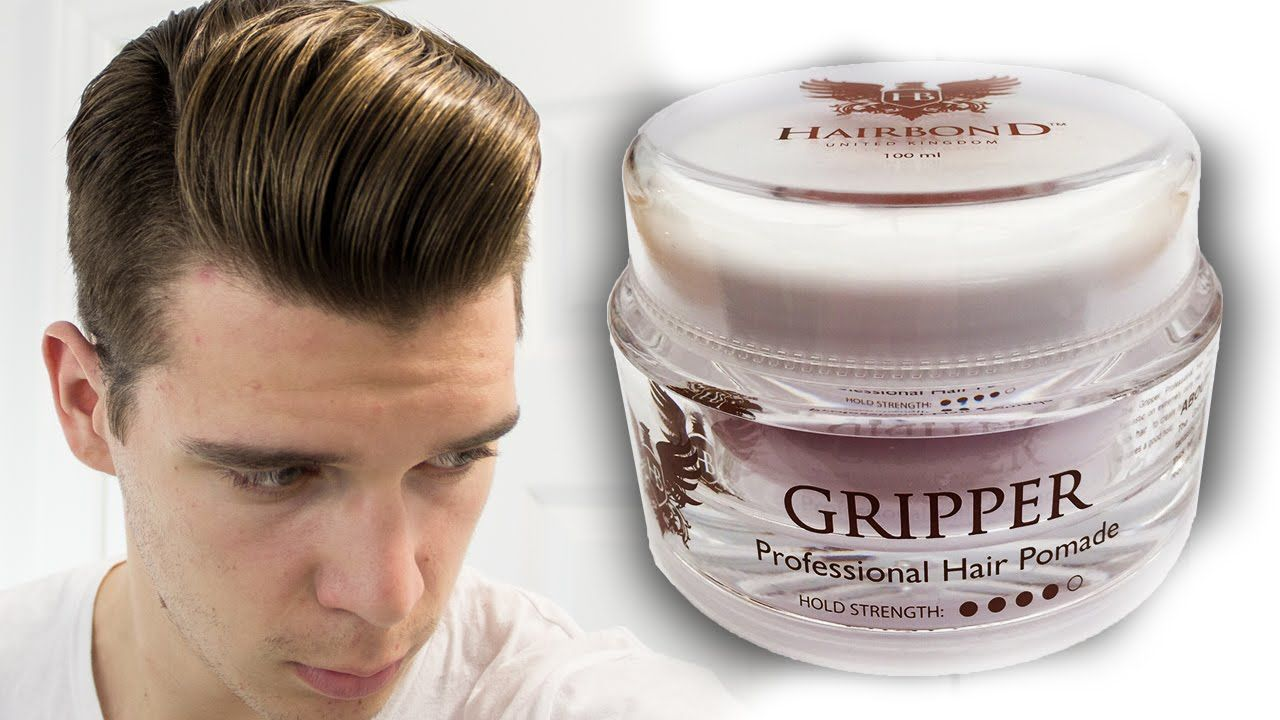 Hairbond Gripper Pomade Review Best Hair Gel For Men Youtube Hair Gel For Men Cool Hairstyles Hair Gel