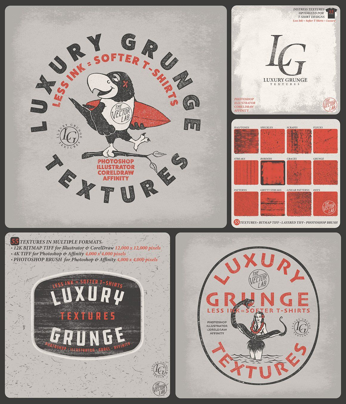 Apply Gritty And Grungy Texture To Your Designs Logos Typography And Illustrations Optim Grunge Textures Graphic Design Software Graphic Design Inspiration