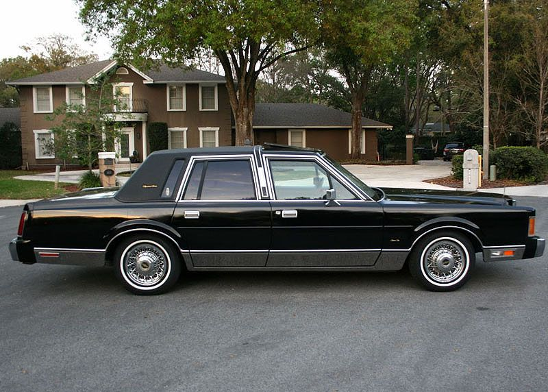 1989 Lincoln Town Car >> 1989 Lincoln Continental Town Car Ford Lincoln And