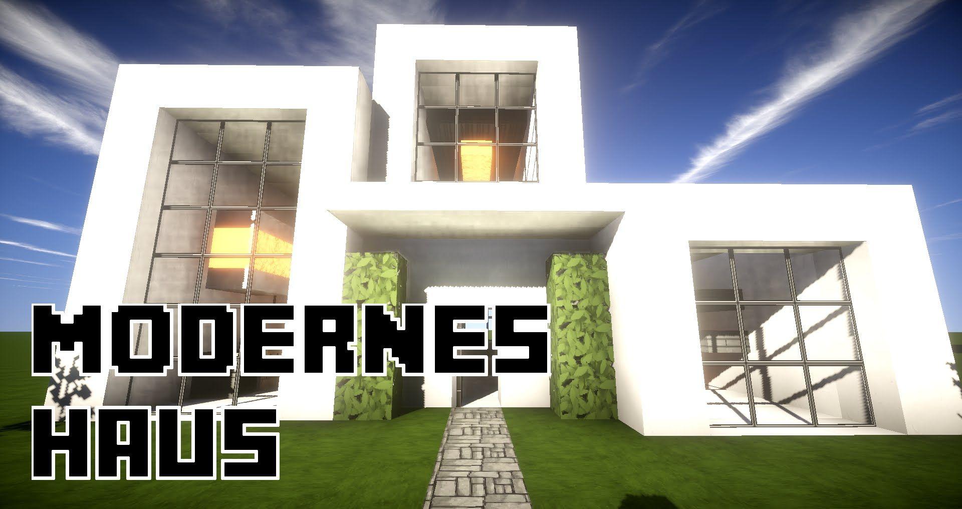 minecraft modernes haus bauen tutorial | Minecraft modern, Haus ...