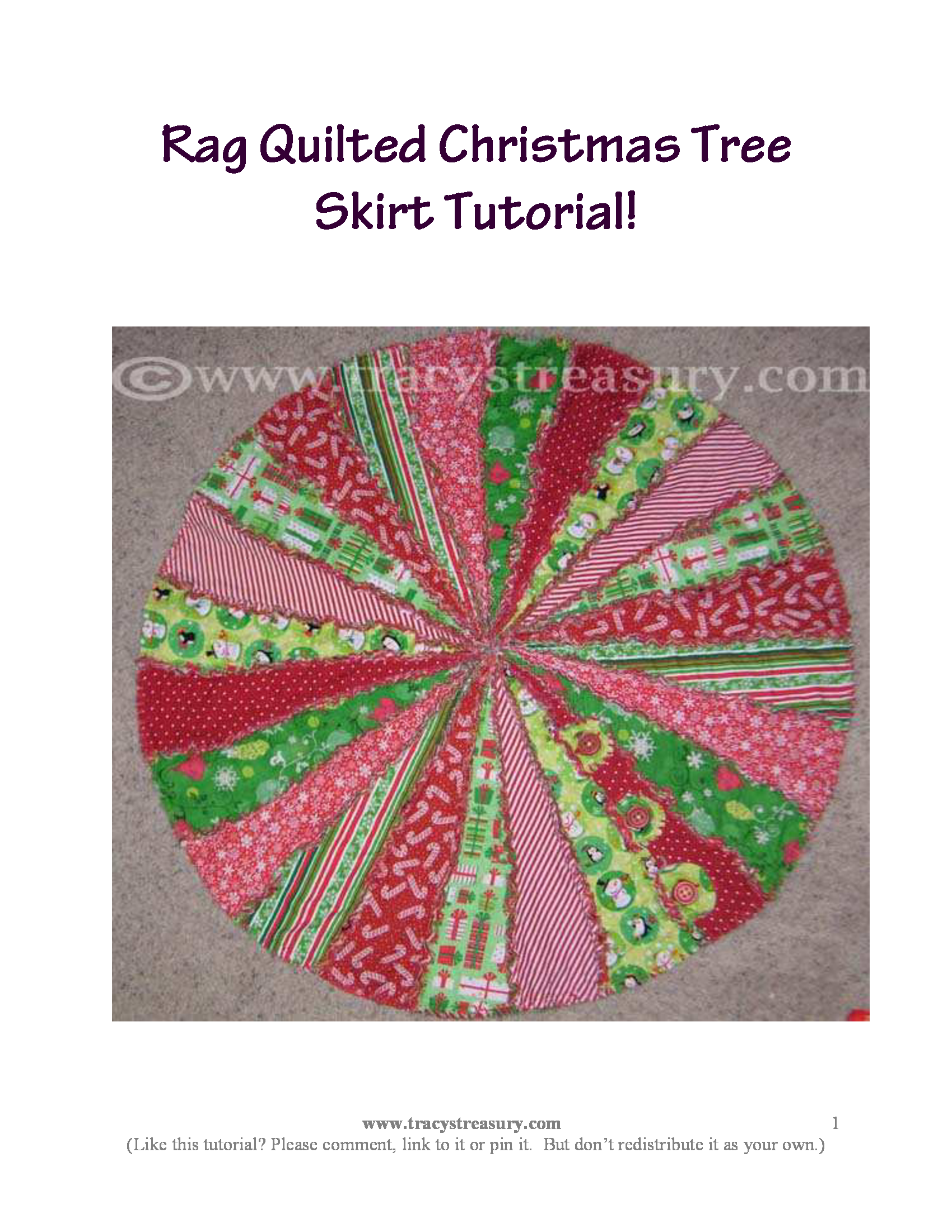 Rag Quilted Christmas Tree Skirt | Christmas crafts/food ... : rag quilt christmas tree skirt pattern - Adamdwight.com