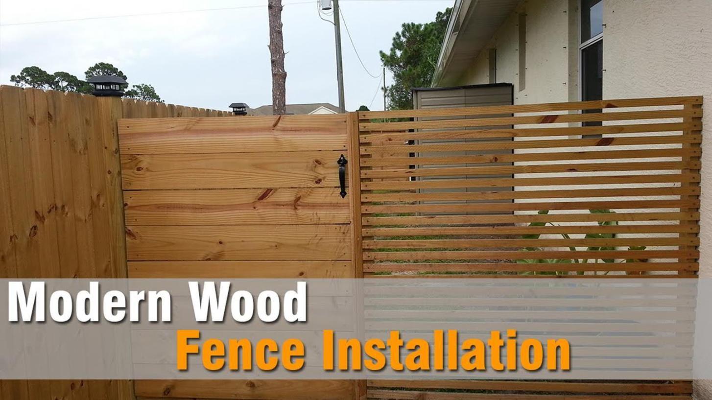 25 Amazing Modern Wood Fence Design Ideas For 2019 Wood Fence Installation Wood Fence Wood Fence Design