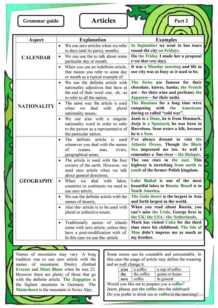 Articles Worksheet Free Esl Printable Worksheets Made By Teachers Learn English Learn English Grammar Grammar [ 1079 x 763 Pixel ]