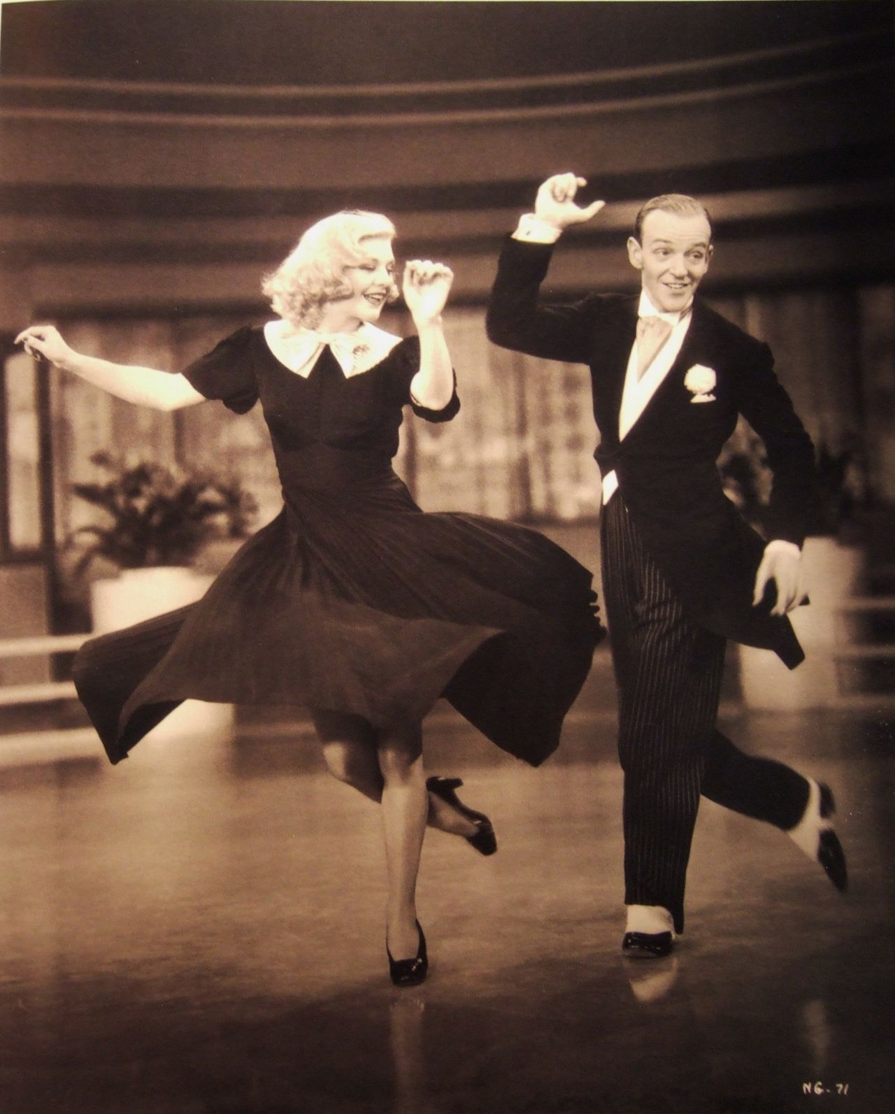 """Ginger Rogers and Fred Astaire in """"Swing Time"""", 1936"""