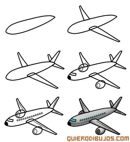 Como Dibujar Un Avion Jpg 450 490 Pixeles Aviones Para Dibujar Animales Faciles De Dibujar Aprender A Dibujar Animales