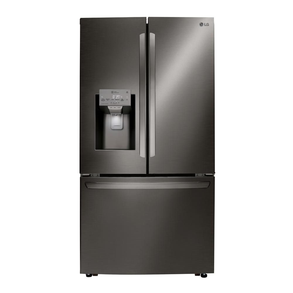 Lg Electronics 24 Cu Ft French Door Refrigerator In Printproof