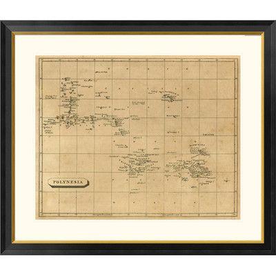 "Global Gallery 'Polynesia, 1812' by Aaron Arrowsmith Framed Graphic Art Size: 23"" H x 26"" W x 1.5"" D"