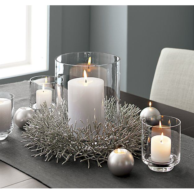 Taylor Extra Large Hurricane Candle Holder Reviews Crate And Barrel Christmas Centerpieces Christmas Table Decorations Hurricane Candles