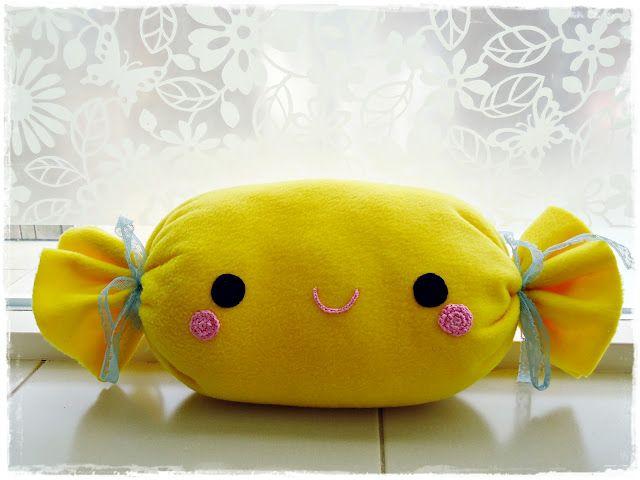 Fleece Candy Plush Pillow Kawaii Crafts Candy Pillows Cute Pillows