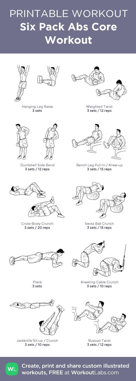 photograph regarding Printable Ab Workout known as 6 Pack Abdominal muscles Main Exercise: my personalized printable work out through