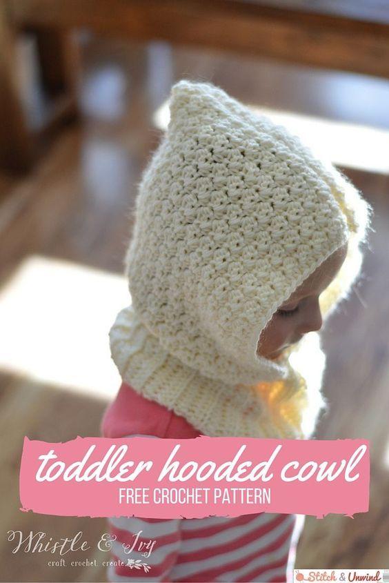 Toddler Hooded Cowl Free Crochet Pattern Hooded Cowl Modern