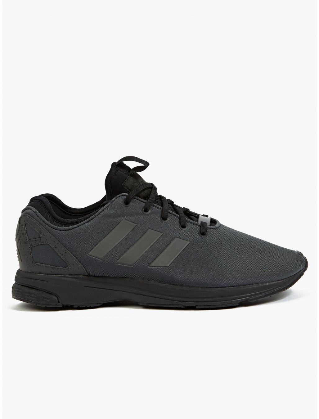 1adce4a67e31c Adidas Originals Men s Triple Black ZX Flux Tech NPS Sneakers