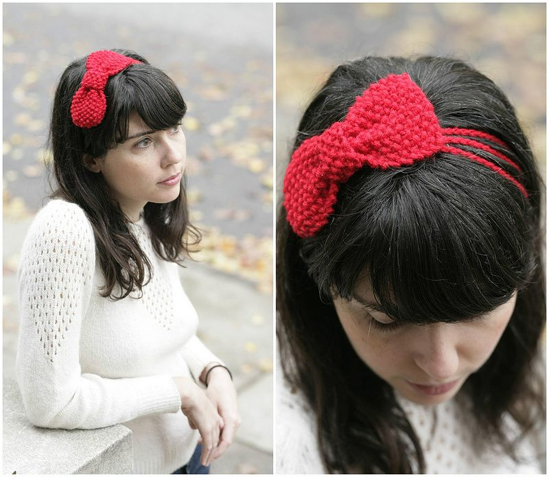 Knitted Bow Pattern Crochet Pinterest Knitting Crochet And