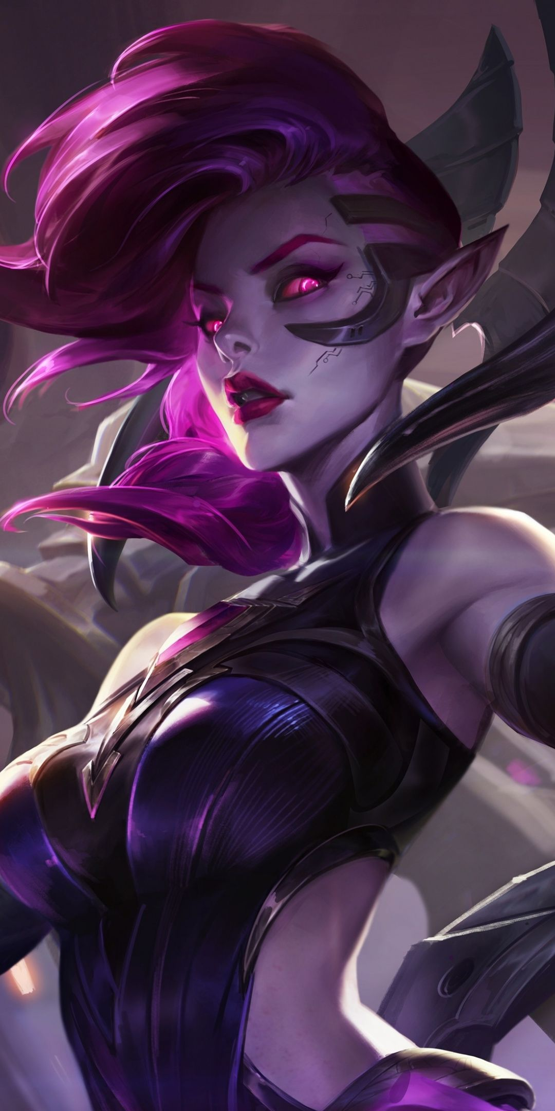 Morgana League Of Legends Violet Hair Video Game 1080x2160 Wallpaper Lol League Of Legends League Of Legends Characters League Of Legends