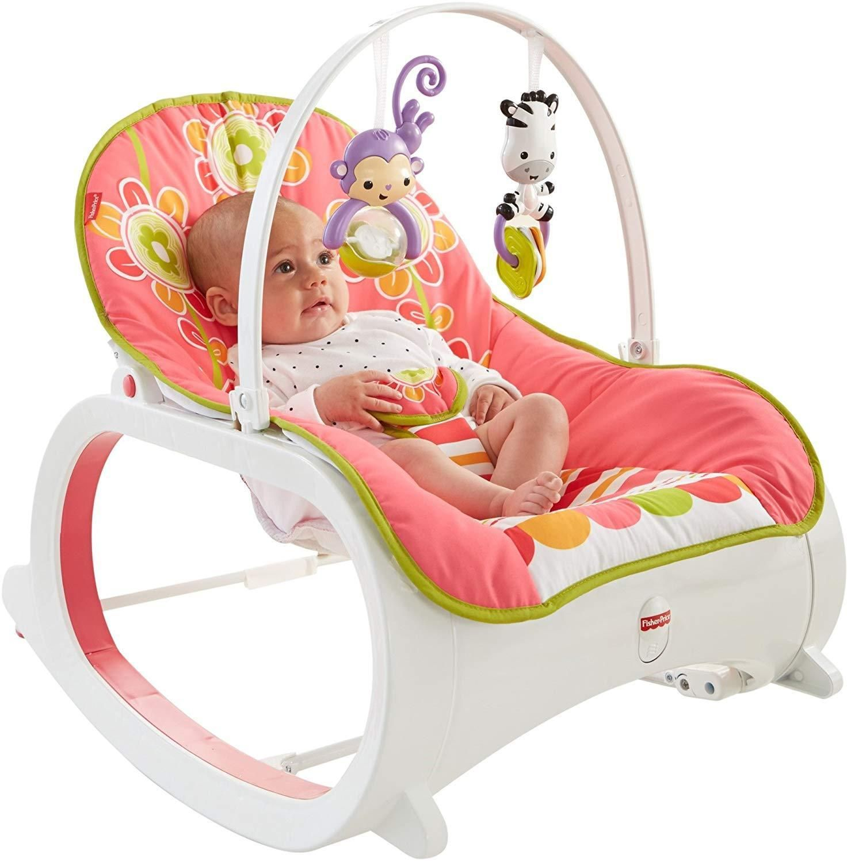 Baby Rocker Infant To Toddler Rocking Newborn Crib Swing Seat Chair Bouncer Nap Newborn Bassinet Baby Rocker Baby Bouncer
