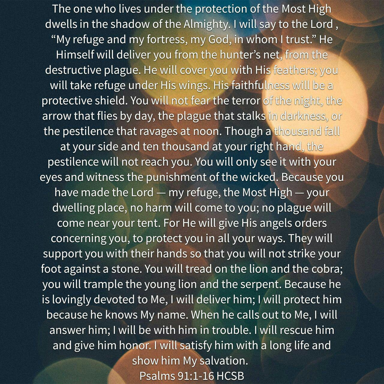 Psalms 91: 1-16