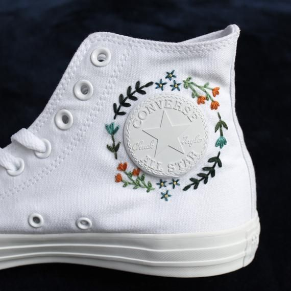 Photo of Gestickte High Top Converse