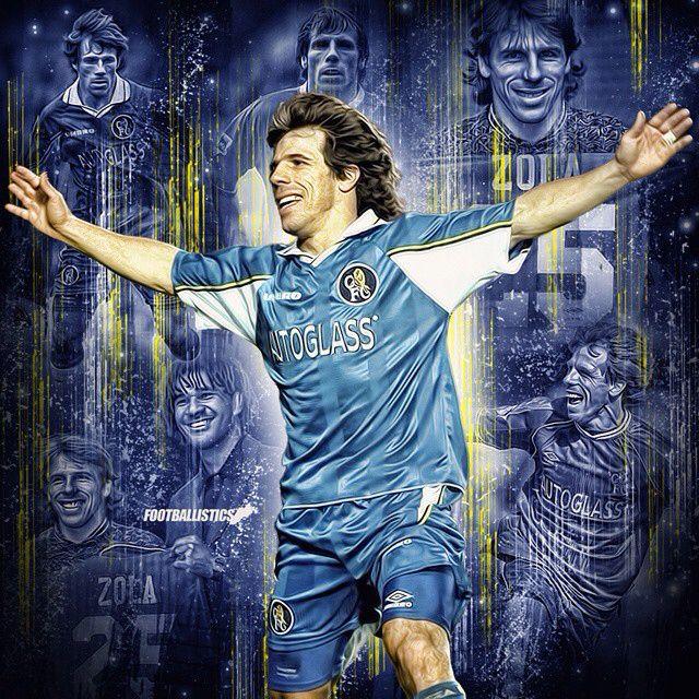Gianfranco Zola Chelsea Poster
