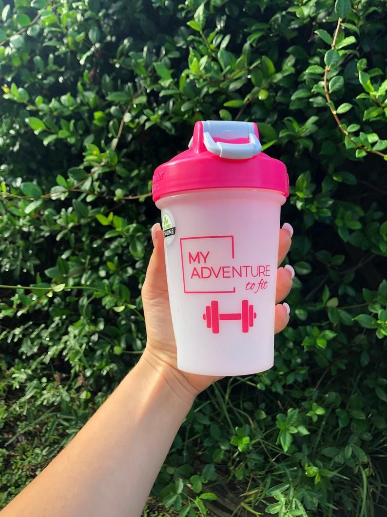Blender bottle my adventure to fit with barbell magenta