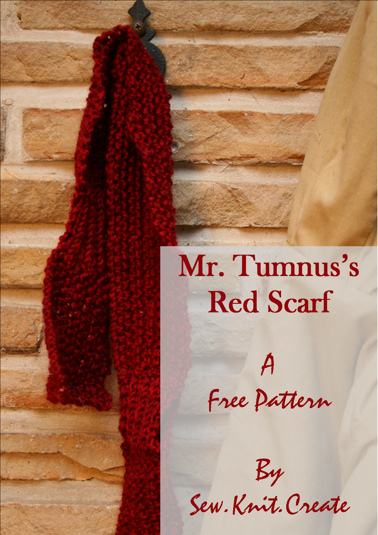Get a free scarf pattern at Sew.Knit.Create! This look inspired by ...